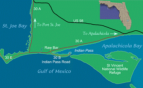 Image of a map of Indian Pass.