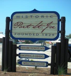 Image of the Port St. Joe welcome sign.